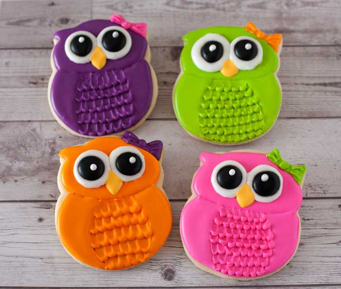 Birthday Owl Cookies