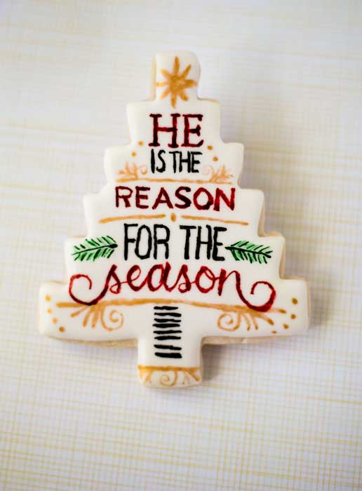 December Daily Happy Birthday Jesus Cheetah Cookies