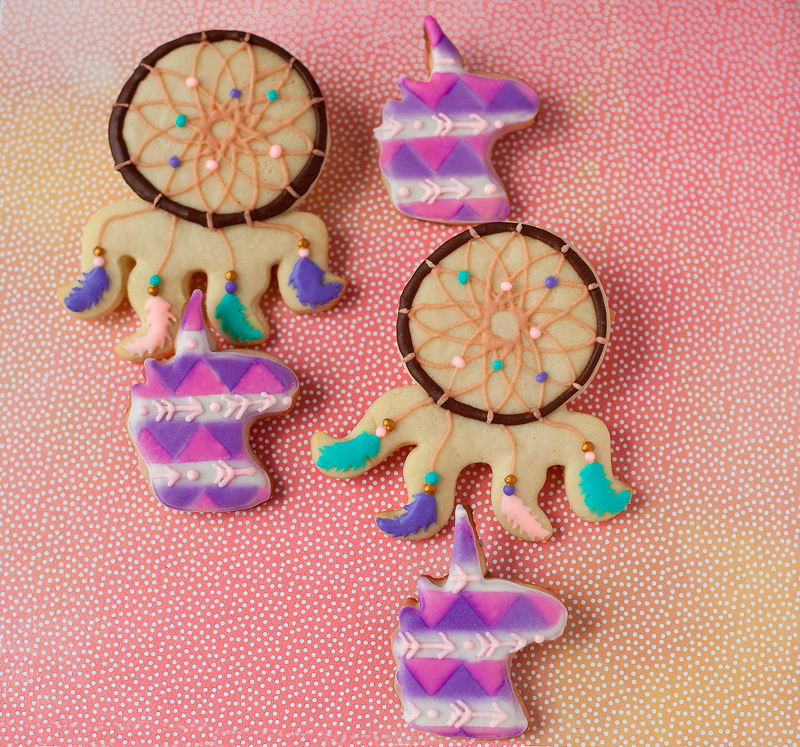 © Bohemian Unicorn and Dreamcather Cookies