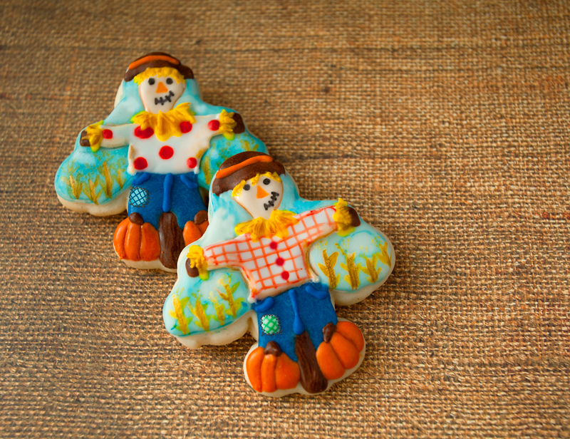 © Mystery Shape Scarecrow Cookies