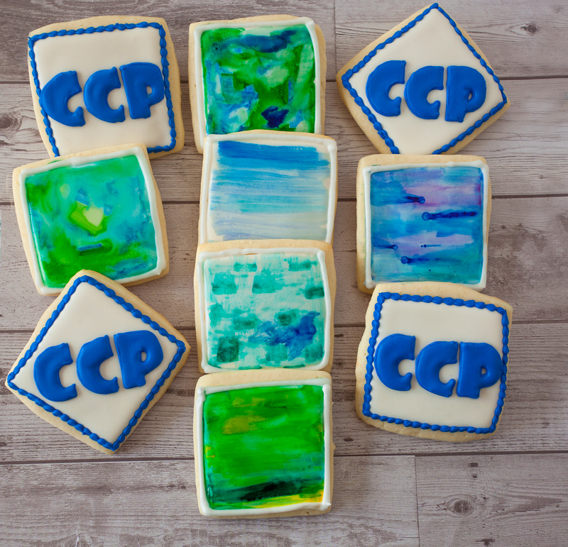 © Logo and Watercolor Cookies