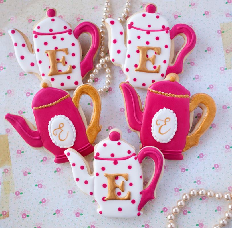 © Monogrammed Teapot Cookies