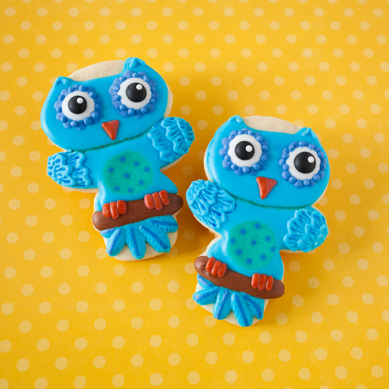 © Mystery Shape Monday Owl Cookies