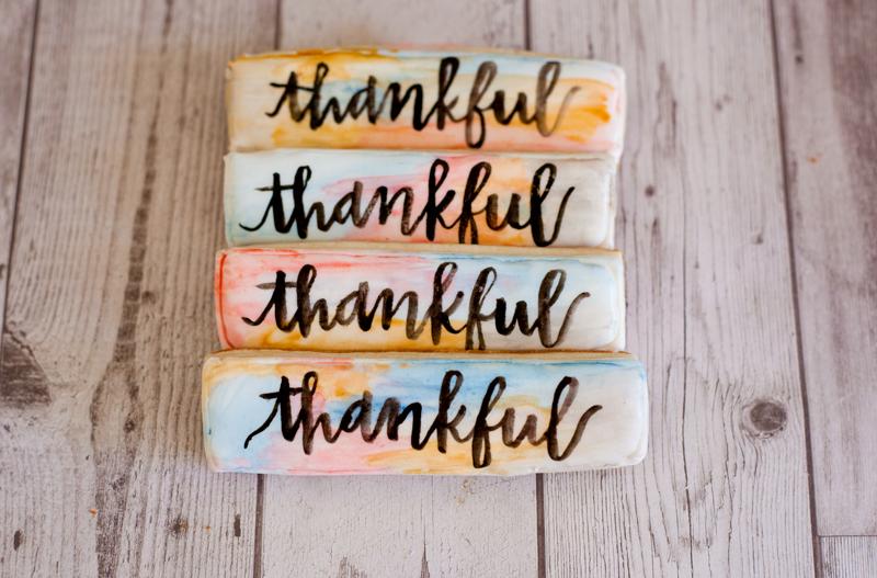 © Thankful watercolor cookies