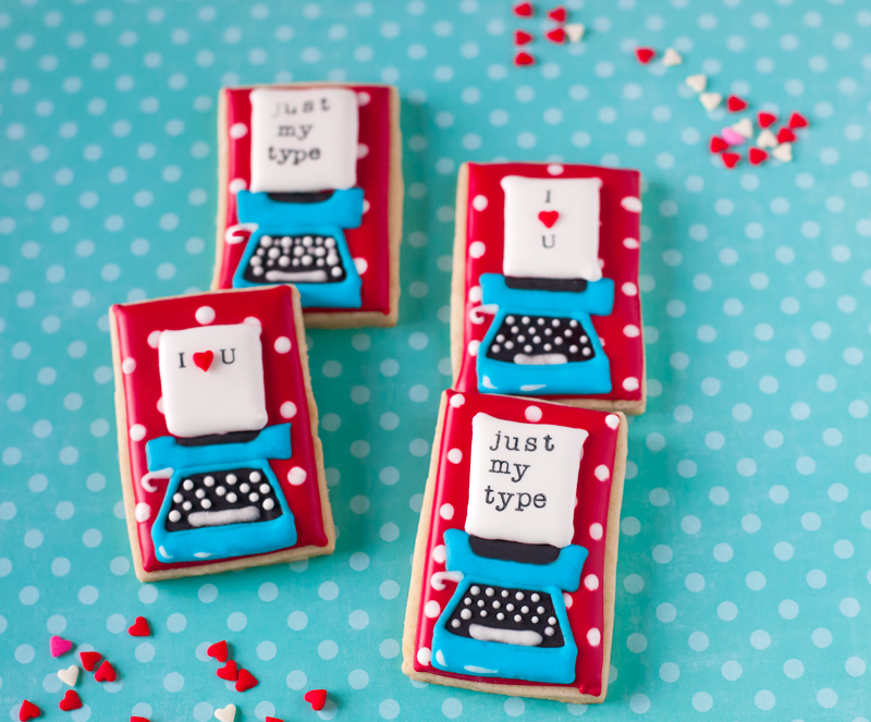 © Just My Type Valentine's Day Cookies