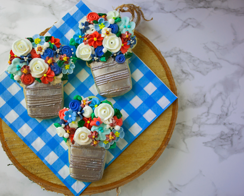 © Memorial Day Bouquet Cookies