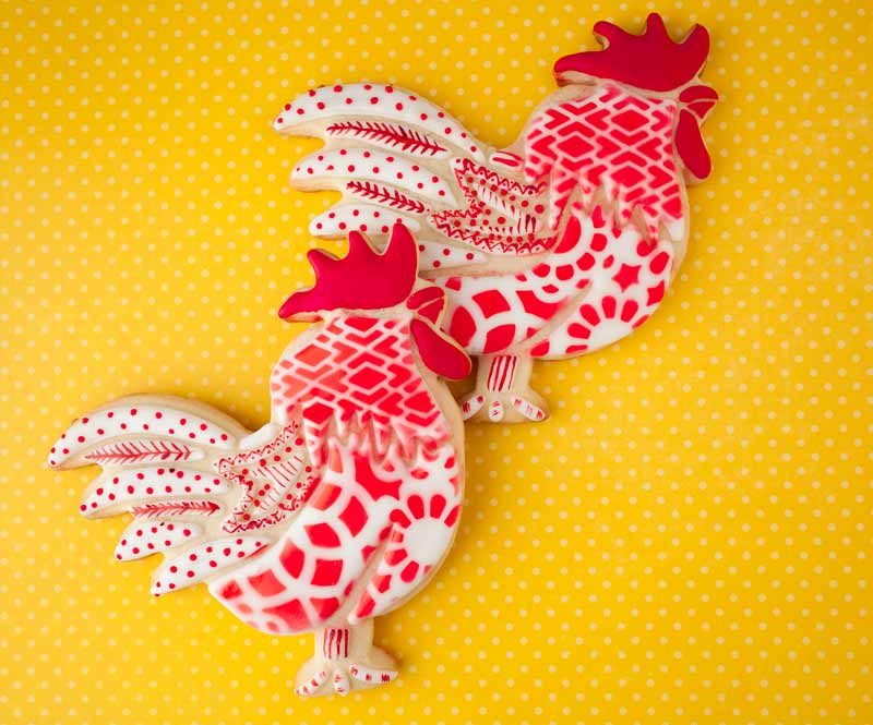 © Chinese New Year Rooster Cookies