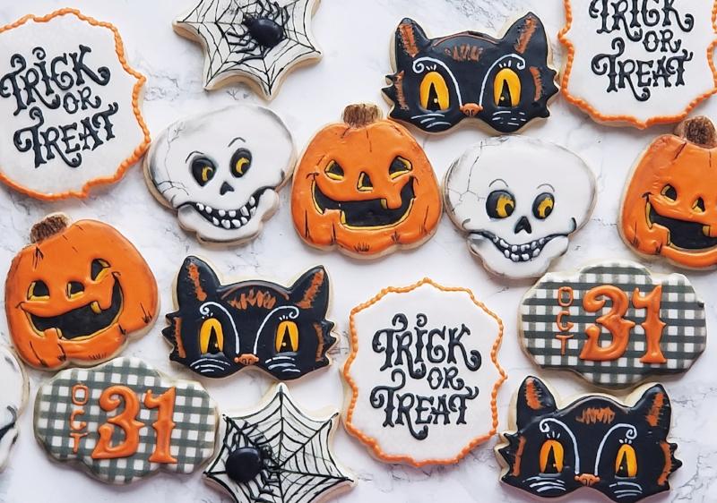 © Vintage Halloween cookies