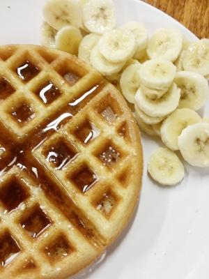 © Waffles and bananas
