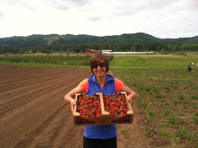 A successful strawberry harvest at Kruger Farms on Sauvie Island.