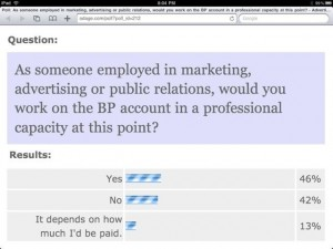 AdAge Poll - Would You Work For BP?