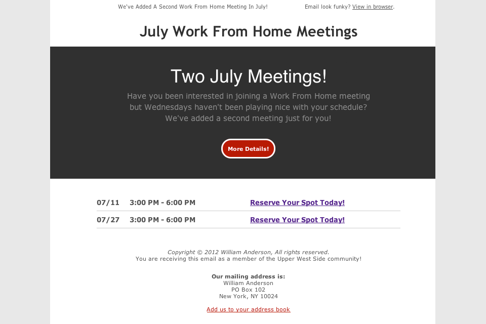 William Anderson, Portfolio: Connecting With Your Community - Conferences, Meetings