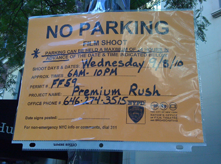 Filming New York - Premium Rush