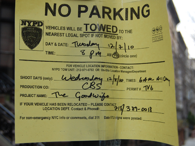 Filming, New York - The Goodwife