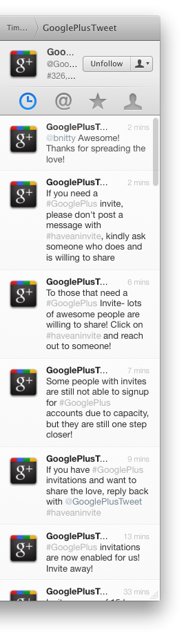 Google+ Invites via Twitter