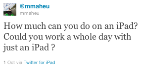 Mike - iPad as a Business Tool?