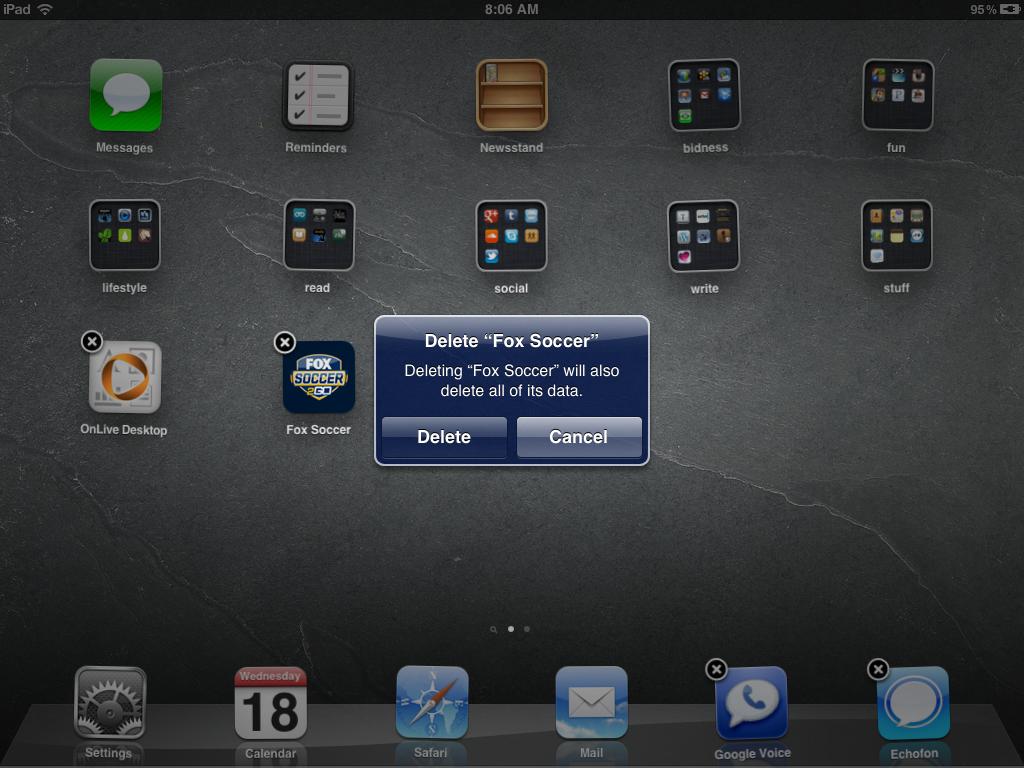 FOX Soccer 2Go for iPad for iPad: Bye Bye (again)!