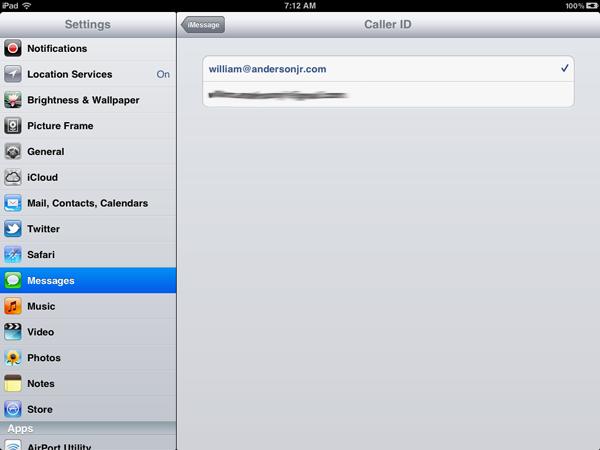 Apple Caller ID: iPad