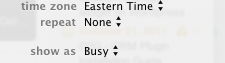 iCal: Busy
