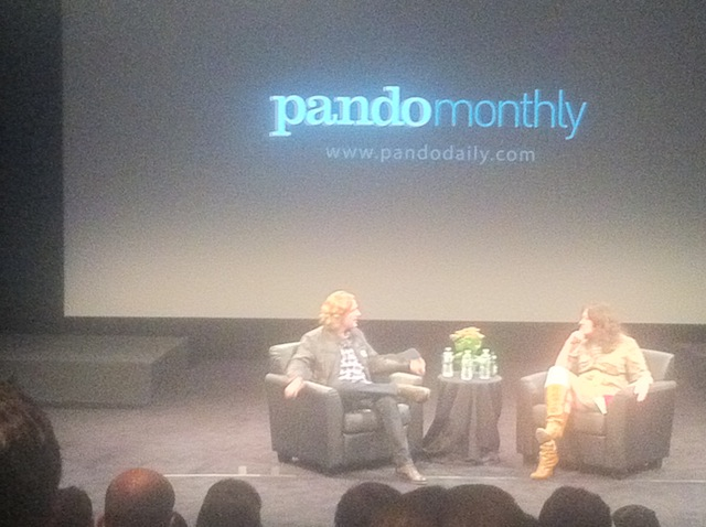 Matt Mullenweg and Sarah Lacy On Stage at Pando Monthly