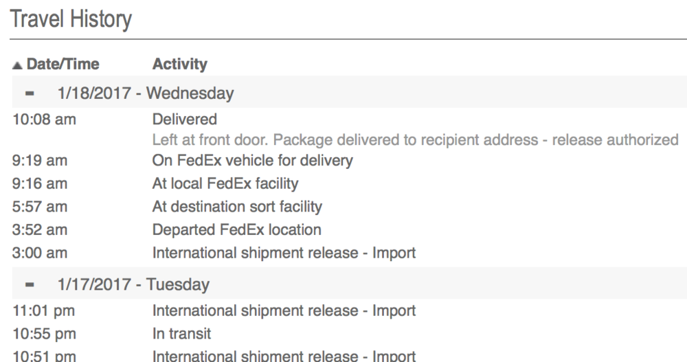 That Apple Experience wiljrorg – Shipment Release