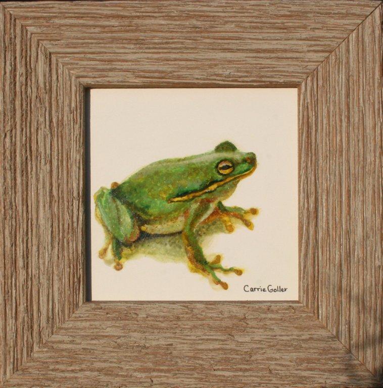 Frog  , egg tempera, 4x4