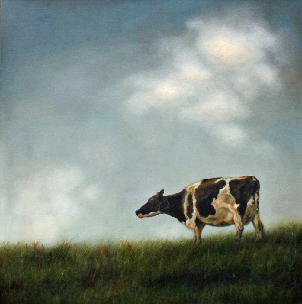 Eunice, oil 36x36 by Carrie Goller