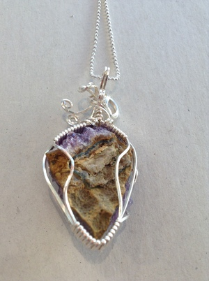 Sold charles goller amethyst wire wrapped crystal pendant sold charles goller amethyst wire wrapped crystal pendant necklace with 30 petite ball chain aloadofball Gallery
