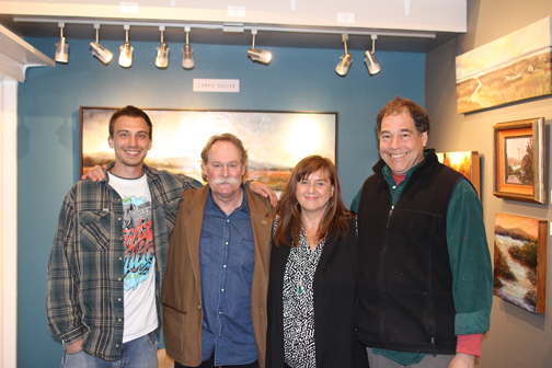 Merry little band of artists, Charles Goller, James Bender, Carrie Goller and Robin Weiss