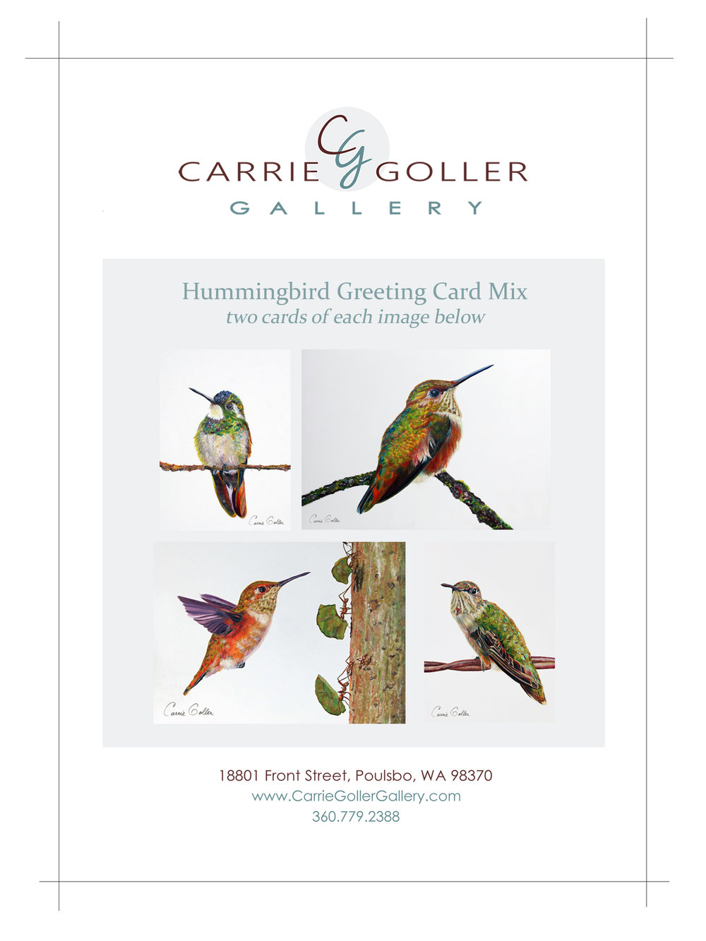 Greeting card mix hummingbirds carrie goller gallery m4hsunfo