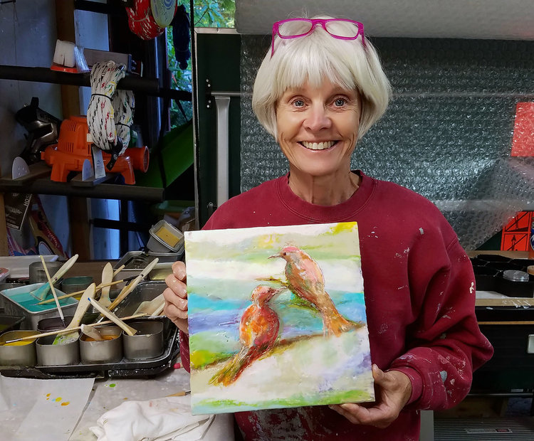 Two Day Private Encaustic Workshop With Artist Carrie Goller