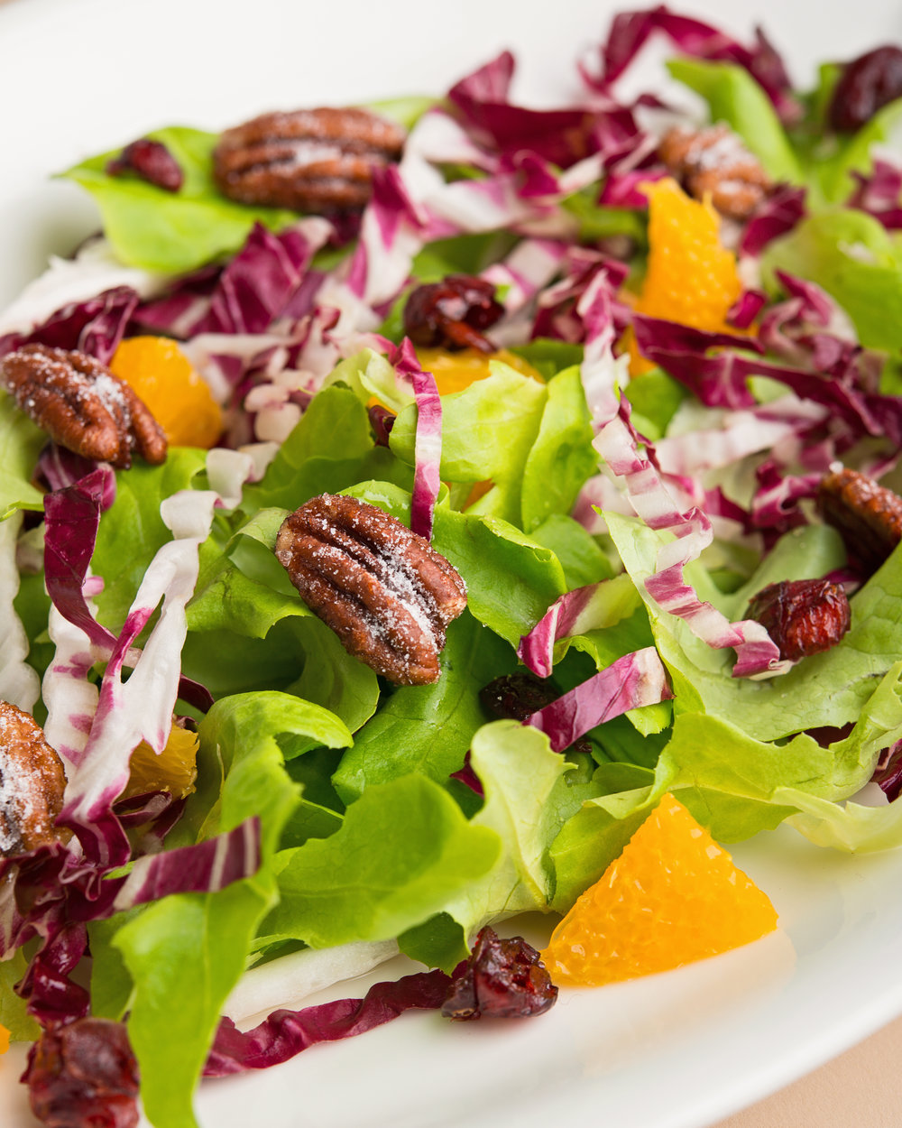 Honeyed pecan salad         with tangerine                   vinaigrette