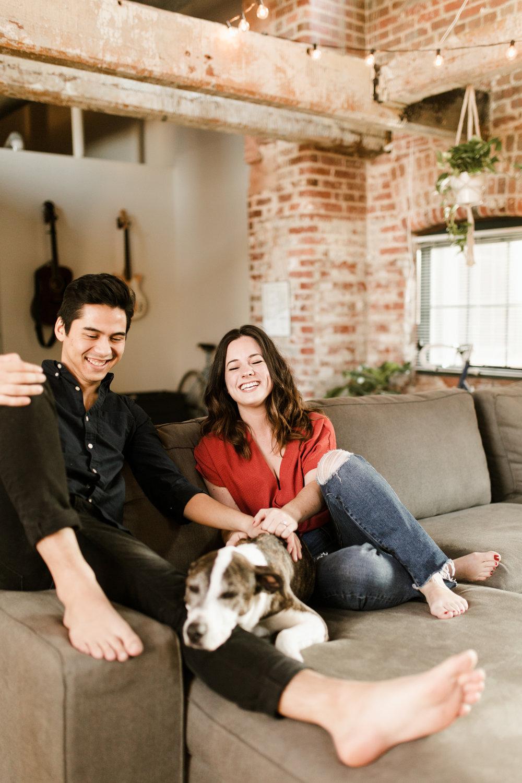 Atlanta Loft In Home Engagement Session