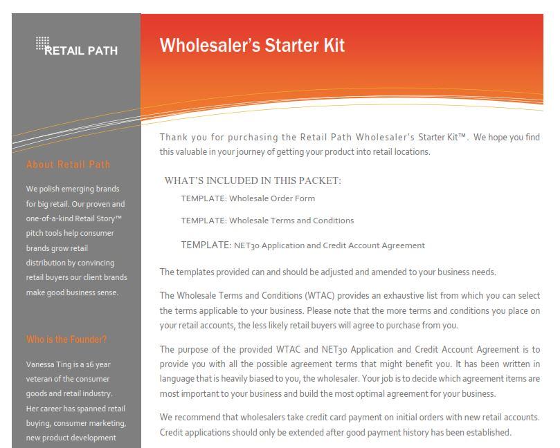 Wholesaler S Starter Kit Buy Retail Path Smart Growth