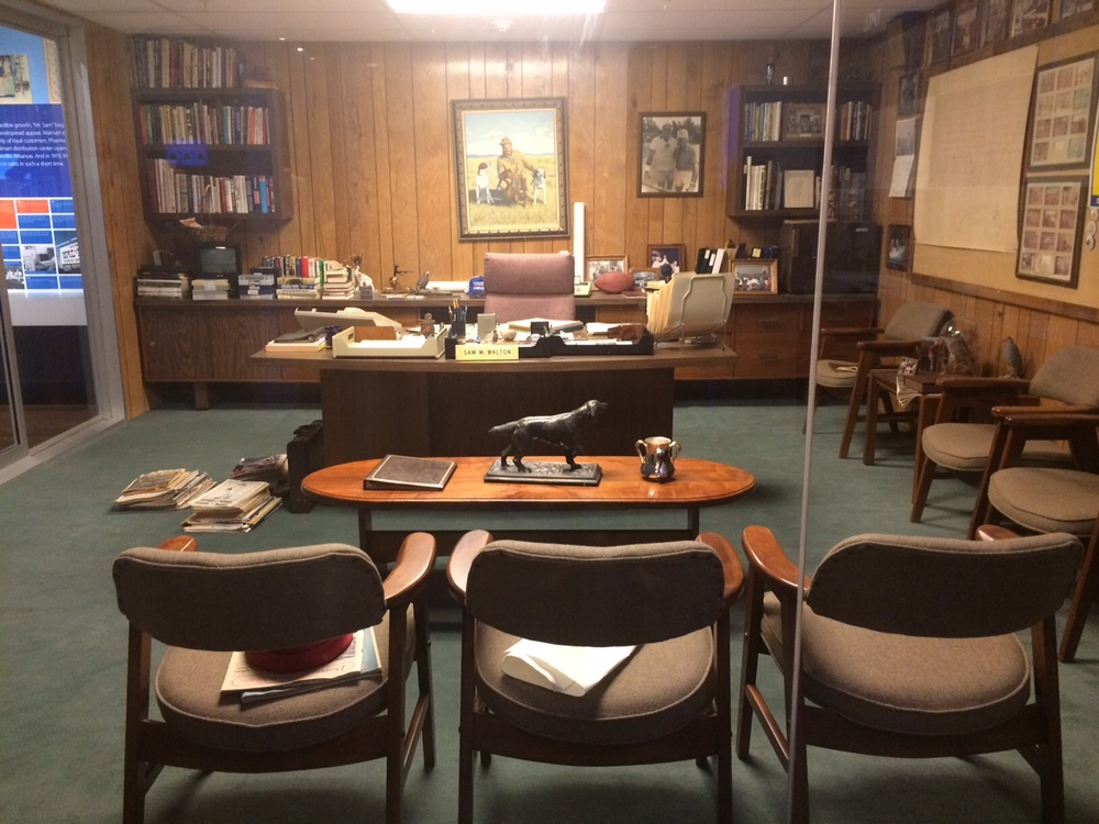 Sam Walton's Office, as it looked when he passed away in 1992.