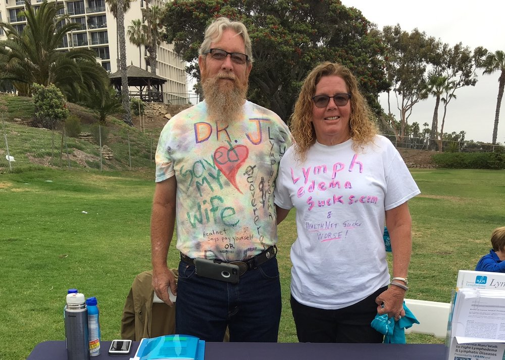 Husband Steve and I at the 2018 CA Run/Walk to Fight LE & LD