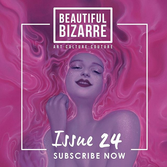 So excited to be included in the upcoming issue of @beautifulbizarremagazine , along with so many amazing artists! It's up for pre-order now 👉 beautifulbizarre.net/shop . INSIDE ISSUE 024 . Featured Interviews: Ray Caesar [cover artist] @raycaesar1111 Olivia De Berardinis @oliviapinupart Lee Price @leepricestudio Esao Andrews @esao . Artists Vs Artist Interview: Artist couple Soey Milk @soeymilk & Kent Williams @kentwms share a deeply personal conversation about life, love and working and creating together. . Path to Creation: Erika Sanada @erikasculpture takes us through her ceramic sculpture creation process. . Featured Articles: Kris Lewis @krislewisart Fuco Ueda @fucoueda Jacub Gagnon @jacubgagnon Lauren Marx @laurenmarxart Bella Kotak @bellakotak Syd Bee @sydbeeart Olga Esther @olgaesther.pinturas . Curator's Wishlist: Erica Berkowitz, Director of Haven Gallery @havengallery shares what she would like to add to her personal collection. . Lookbook: CRAWW @craww .