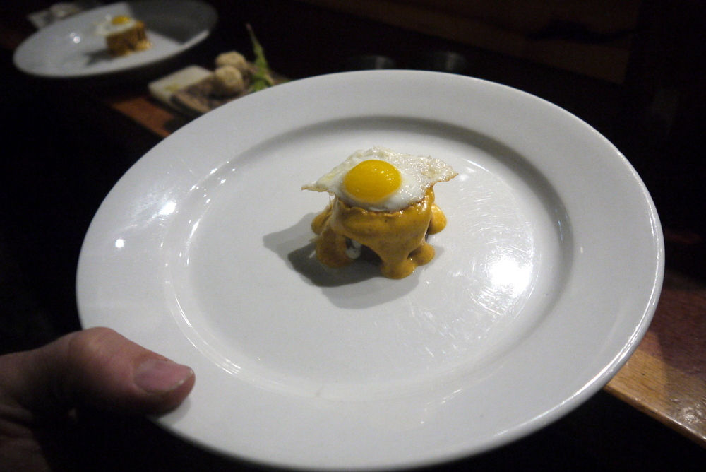 and they made me this crab/ curry/ quail egg bite (among many many other incredible things to eat). The members of the Lai family are aggressively generous and I never feel so royal as when I sharpen for them.