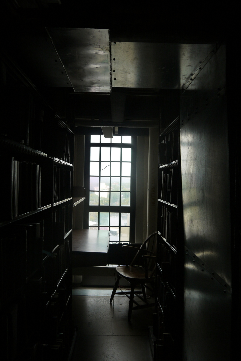 and back in the library on a different overcast day (same light though)