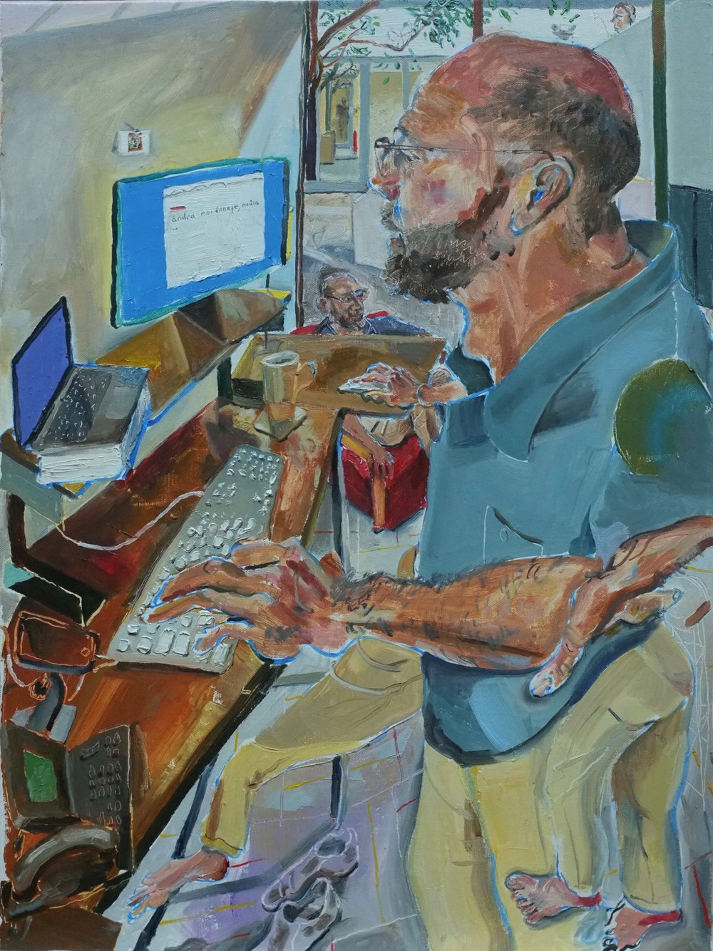 Dad at Work  18 x 24 in