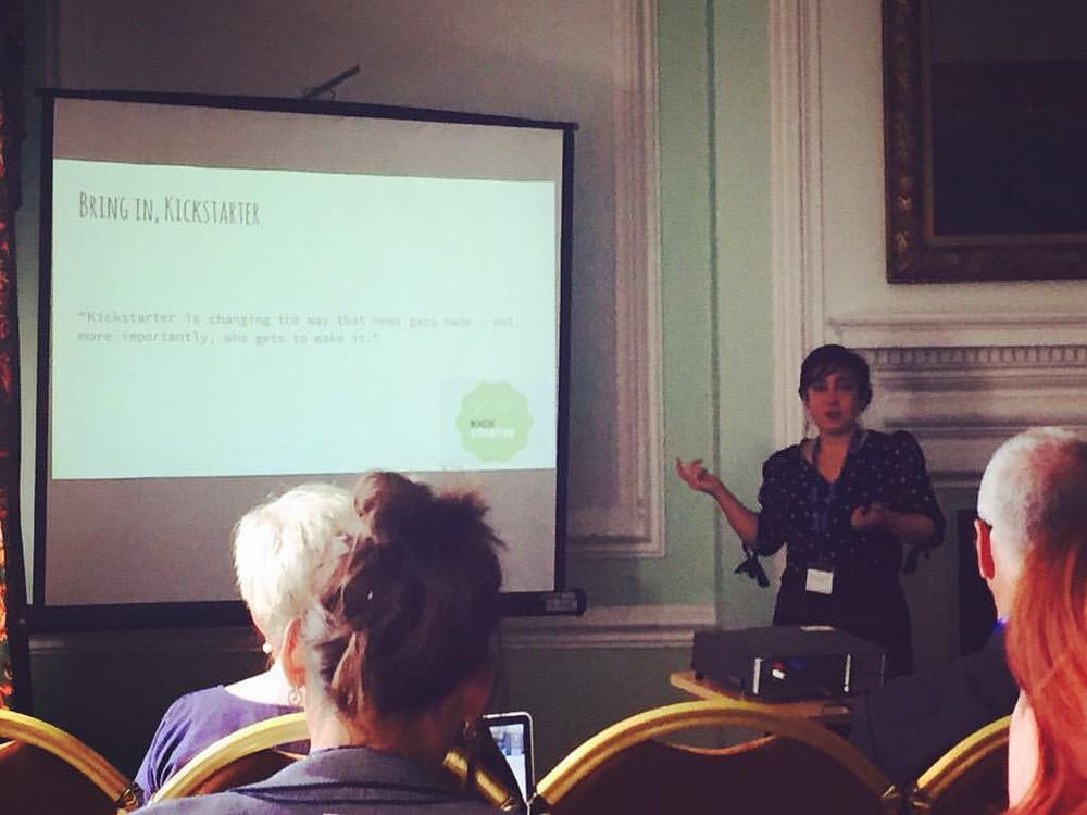 Snapped on twitter presenting at Cardiff Town Hall, September 2015.