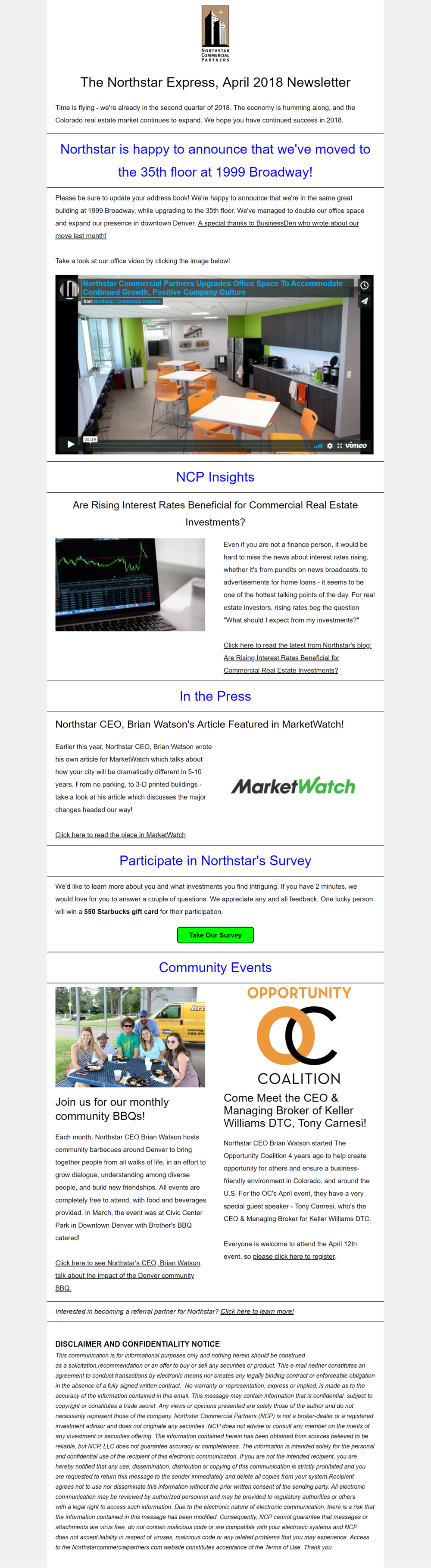 Northstar Express Newsletter  Northstar Commercial Partners  A