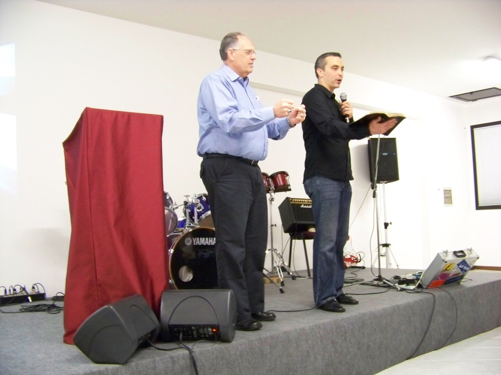 Treviso, Italy- Dick Preaching, Pastor James interpreting