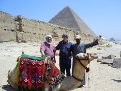 Egypt - Dick, Rick & their guide