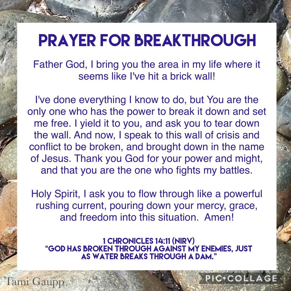 Prayer For Breakthrough