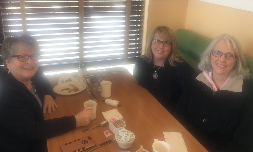 Donna Sorenson, Fleda Bennie and Tami Gaupp- Book Publishing Launch Planning Meeting- Jan. 2019