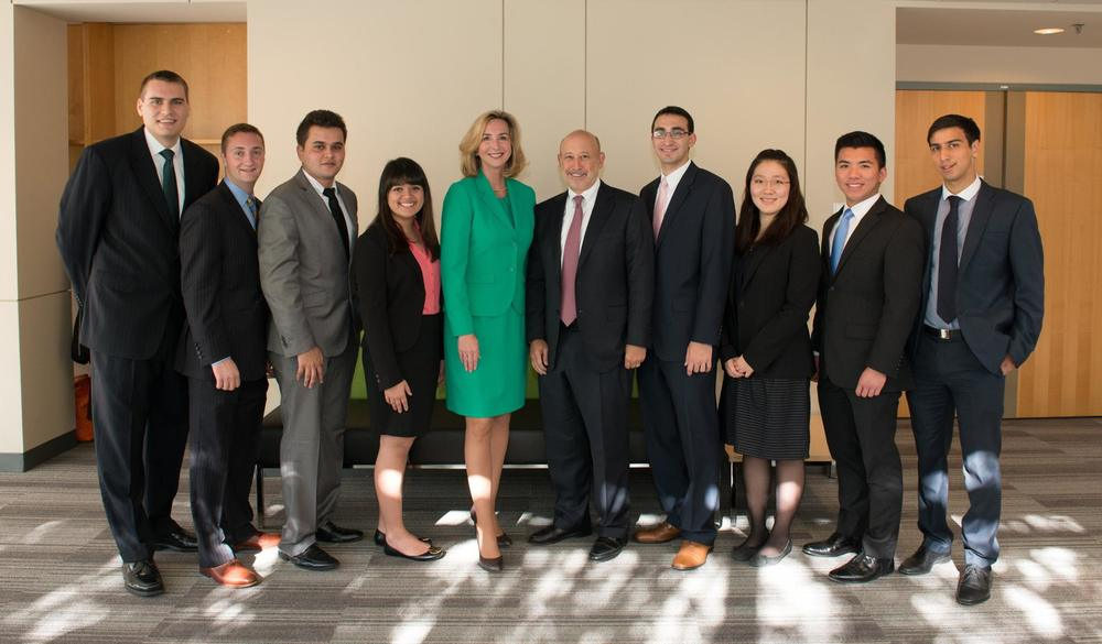 The executive board with President Healey and Mr. Lloyd Blankfein