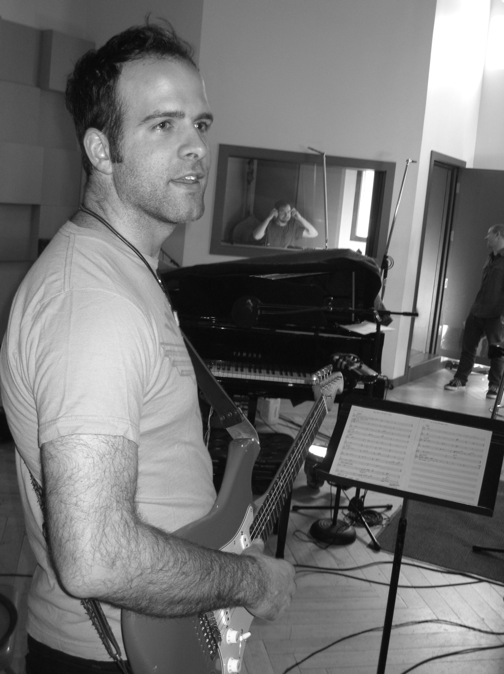 Greg Mayo during 'Anticipate' session, Dubway Studios, NYC