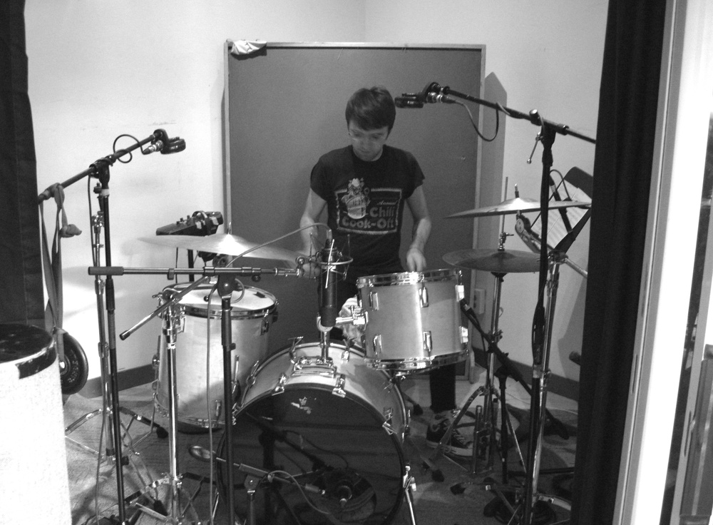 Zach Jones during 'Anticipate' session at Dubway Studios, NYC