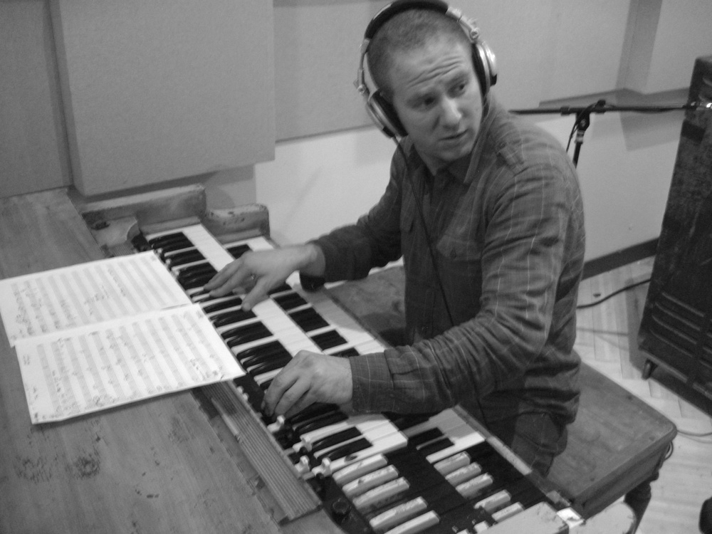 Oli Rockberger during 'Anticipate' session at Dubway Studios, NYC